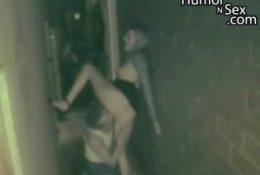 Секс на улице после дискотеки
