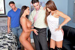 Муж с женой и их любовники